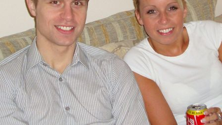 Richard Gent pictured with his younger sister Lindsay
