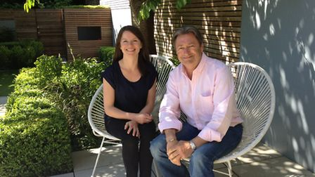 Lucy Willcox with veteran TV presenter Alan Titchmarsh. Picture: Lucy Wilcox