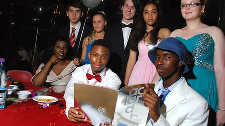 Acland Burghley School held a Bugsy Malone-themed prom for GCSE students. (Back row, from left) Tony Lysandrides, Faye...