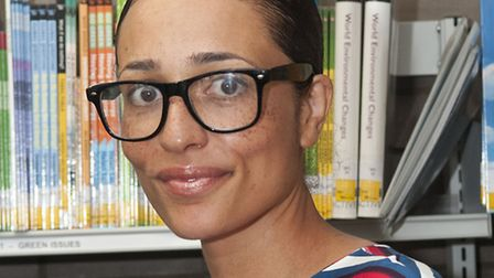 Zadie Smith at Swiss Cottage Library. Picture: Nigel Sutton