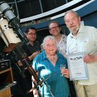 Doug and Julia Daniels were honoured at the Hampstead Observatory for their sterling efforts as volunteers for a combined 104...