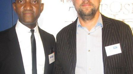 Hilton von Herbert, who won Legal Aid Lawyer of the Year, with Hackney Community Law Centre patron Jon Robins at The Legal...