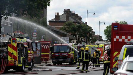 East Ham fire. Picture: David Mirzoeff