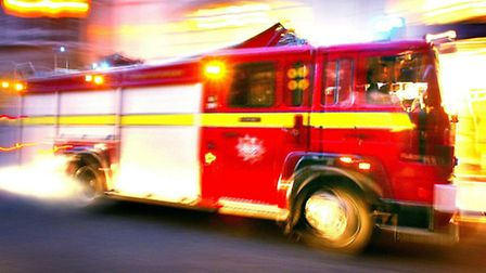 Crews tackled a flat blaze in East Finchley yesterday