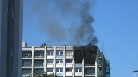 Two people suffered smoke inhalation as a result of the fire. Picture posted to iwitness24 by Chris Chilton.