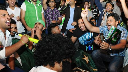 People celebrate Pakistan Independence Day in Upton Park.