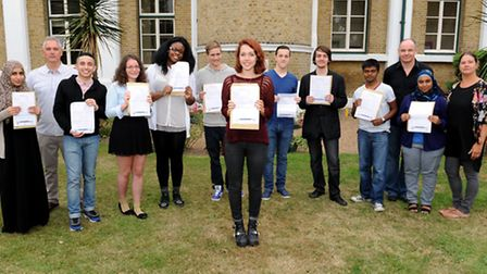Puplis form St Angela's & St Bonaventure's Sixth Form with their A-level results.