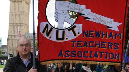 Teachers demonstrate in central London over changes to pay and conditions