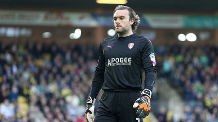 Lee Camp of Rotherham United during the Sky Bet Championship match at Carrow Road, NorwichPicture