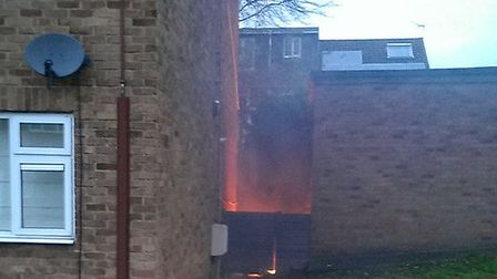 A child's bike was set alight in Fairview Drive. Photo: Paul Canal