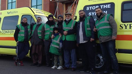 The group of parents will travel through Europe as part of a 100 ambulance convoy to drop off supplies for the...