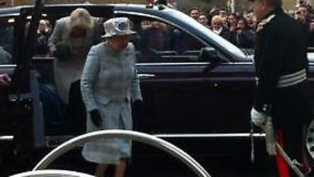 The Queen and Duchess of Cornwall arrive in Barkingside