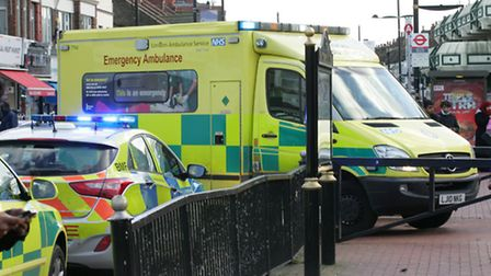The London Ambulance Service attended the scene