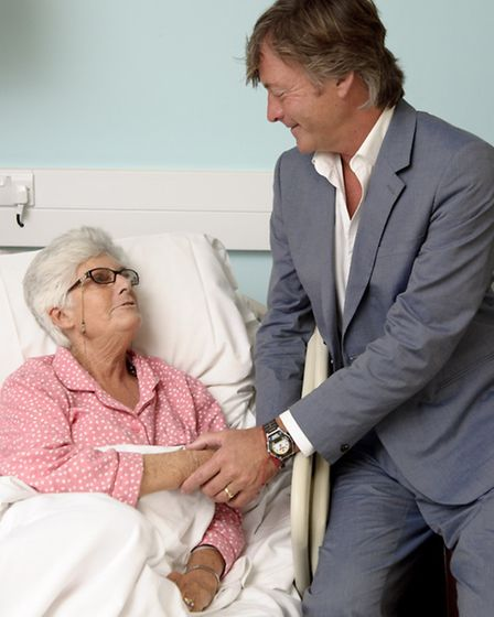 Richard Madeley with patient Sheila Hunt