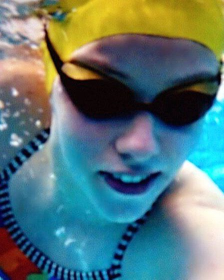 Amy Marren in action at her local pool in Romford