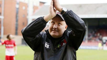 Orient boss Russell Slade endured a tense afternoon against Colchester at Brisbane Road. pic by Simon O'Connor