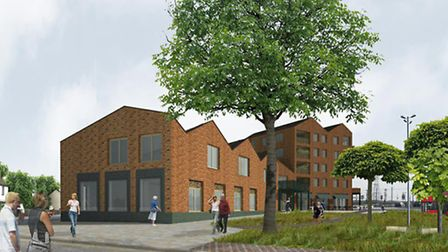 Plans include a five-storey block of flats, library, cafe and other community facilities on a conservation area near...