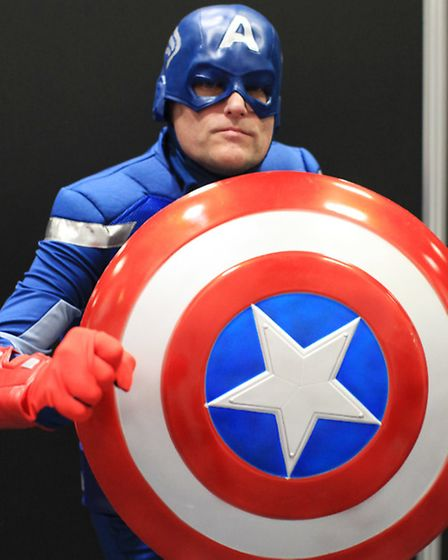 Graham Ford dressed as Captain America