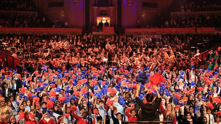The famous hall was filled with colour and sound by the children of Redbridge