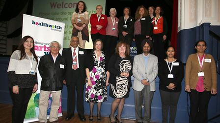 Volunteers and board members from Healthwatch Redbridge celebrating its first birthday
