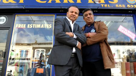 Victory for Manor Park traders including Jitesh Shah, 54, from JK Shah Accountants (left) and Nilesh Chavda, 50, from...
