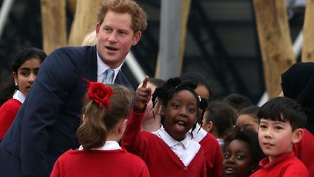 His Royal Highness Prince Harry and Mayor of London, Boris Johnson visited the new Queen Elizabeth Olympic Park on the eve...