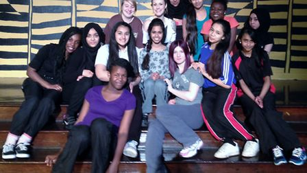 Students from the drama group at Little Ilford School performed a series of dances to mark International Women's Fortnight