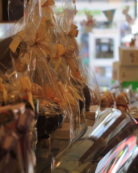 Delicious Easter eggs on sale at Le Chocolatier in Highgate Village