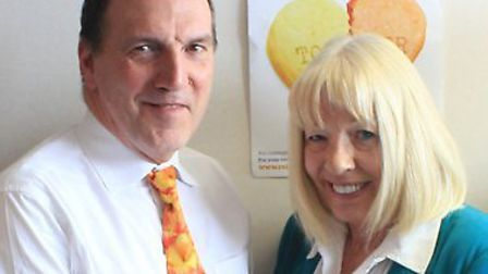 Simon Hughes and Pam Forsyth, CEO of Relate North East London