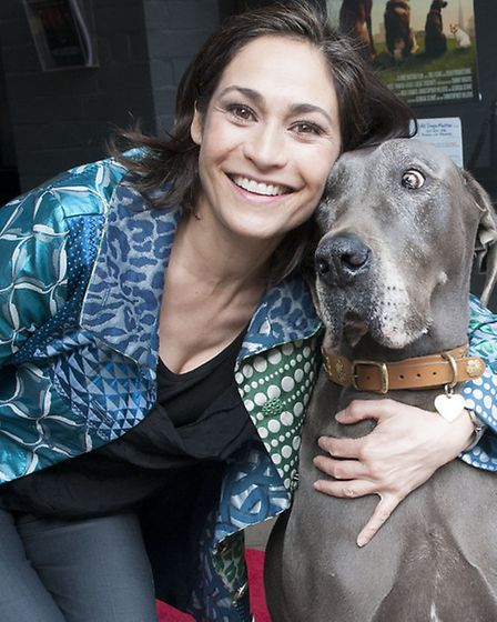 Former Emmerdale actress Georgia Slowe has written and produced the film, pictured here with its canine star Garbo.