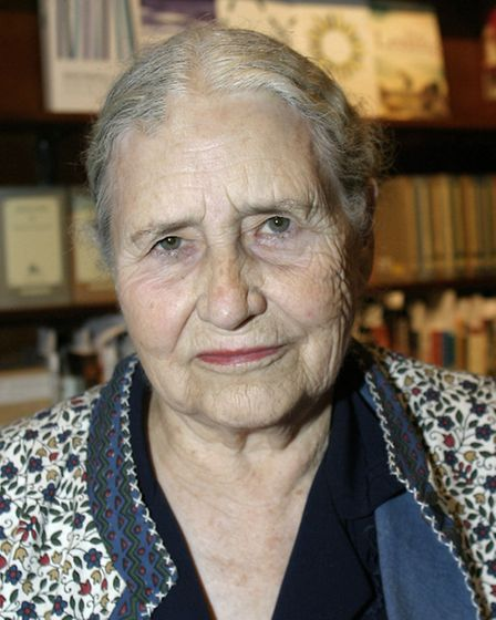Doris Lessing at a book reading at West End Lane Books. Picture: Nigel Sutton