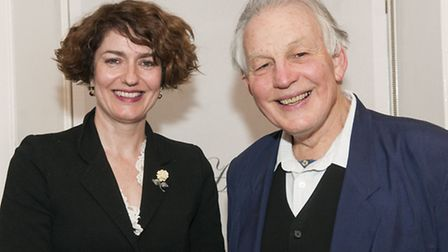 Lifelines with Anna Chancellor at Burgh House interviewed by Piers Plowright. Picture: Nigel Sutton
