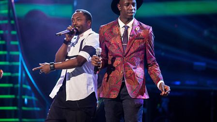Will.i.am and Jermain Jackman perform together - (C) Wall To Wall - Photographer: Guy Levy
