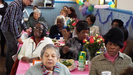 Attendees at the befriending event