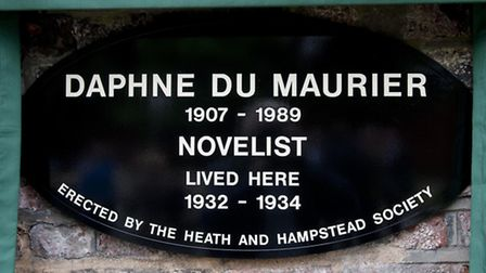 Daphne Du Maurier plaque at Cannon Cottage in Well Road, Hampstead
