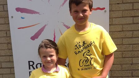 Poppy and Steven Hornsby are among the children from Ravenscroft Primary who will be enjoying a continental breakfast in...