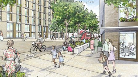 Plans for Marshgate Business Centre in Newham
