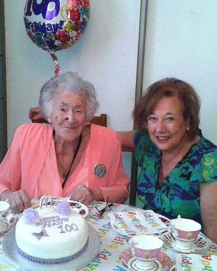 Mrs Platman at her party with the League of Jewish Women. Picture: Chigwell & Hainault League of Jewish Women