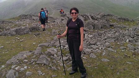 Ramneek Sohal in the Lake District during her challenge. [Picture: Plan UK]