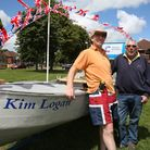 Terry Outridge with his friend Allen Dougall. Terry and his other friend Paul Logan are rowing from Kings Lynn to Bristol...