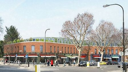 Designs for the re-development of Swain's Lane shopping parade in Highgate were approved last night. Picture: Liam...
