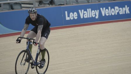 Former Team GB athelete Iwan Thomas at Lee Valley Velodrome for sports charity Spogo