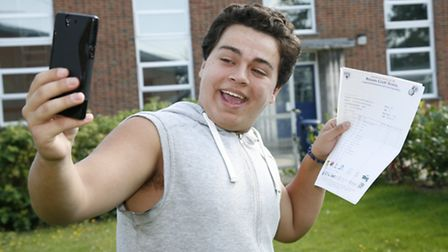 Sean Nicoliades, 16, at Redden Court school in Harold Wood. Picture: Sandra Rowse