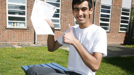 Manmit Rao, 16, at Redden Court school in Harold Wood. Picture: Sandra Rowse