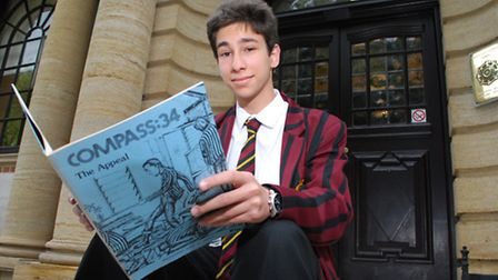 UCS student Danny Wittenberg celebrated with an astonishing 11 A* GCSEs. Picture: Polly Hancock.