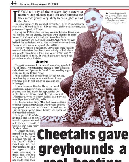 Cheetah article from August 2003