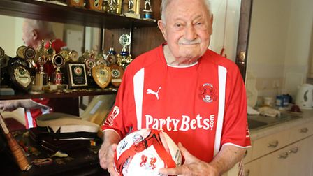 Stan is 93 and the oldest surviving Leyton Orient player