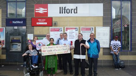 Redbridge Transport Action Group take Crossrail campaign to streets at Ilford Station