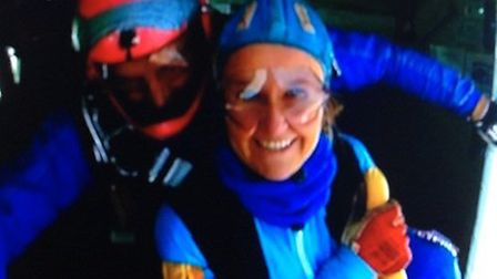 Rea Reinbach jumped out of a plane for Richard House