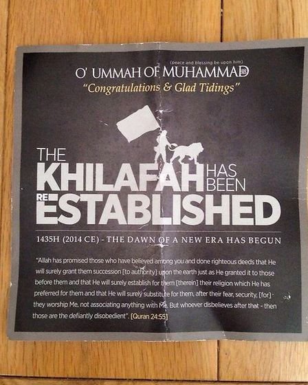 Dozens of pro-Isis leaflets were distributed in London's Oxford Street on August 12, urging Muslims to pledge allegiance...